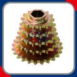 Fileiras múltiplas das rodas dentadas que soldam rodas dentadas