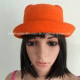 Wollentrilby-Hut der Form-bunter 100% mit Hut-Selbstgewebe und Tasten-Dekoration
