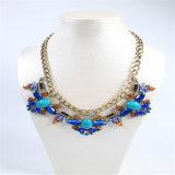 Conjunto azul de la joyería de la pulsera del anillo del pendiente del collar de la manera del tono del nuevo diseño