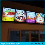 Bâti de cadre léger de menu de DEL pour le restaurant