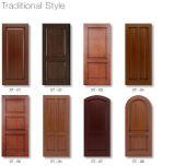 Puerta de madera sólida de pintura de la madera