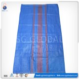 Sac de empaquetage tissé par pp bleu de la vente en gros 65*105cm
