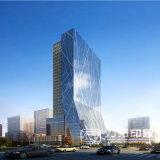 高層オフィスアーキテクチャ外部のレンダリングの視覚化
