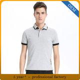 人のための新しいデザイン不足分の袖の綿のポロシャツ