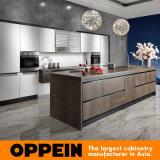 2014 جديد Oppein تكلس روك نوبل خزائن مطبخ خشبي (OP14-068)