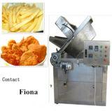 Frigideira de alimentação e de descarregamento automática
