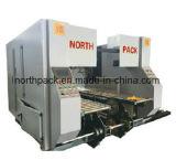 Colagem de dobramento da parte inferior em linha com a máquina cortando da auto impressão e a auto máquina de empacotamento