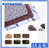 Панель горячего мрамора сбывания деревянная алюминиевая составная для украшения стены с самым лучшим ценой