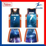 As camisas as mais atrasadas da camisola da equipa de basquetebol do Sublimation do projeto da forma barato
