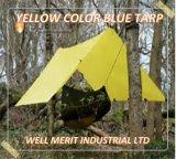 Encerado poli de encerado da cor amarela para acampar