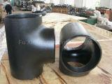 Te de la instalación de tuberías de la soldadura a tope del acero de carbón