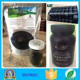 Aceite de coco y coco activado para blanquear los dientes