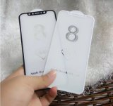 Ausgeglichenes Glas der Kurven-4D für iPhone 8 Bildschirm-Schoner
