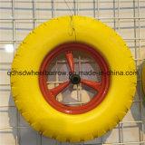 16インチ4.80/4.00-8の平ら自由な固体PUのフォームラバーの車輪