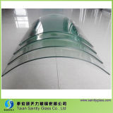 4mm 5mm Curved Toughened Glass Panel mit Drilling Holes