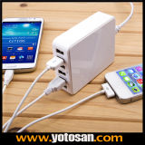 Safety Plug를 가진 Travel 휴대용 Essential 6 Ports USB Phone Charger