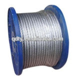 Fabricant de matériel de gréement Hot DIP Galvanized Steel 7 * 19 Wire Rope