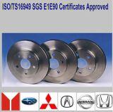Disques de frein avec le certificat Ts16949 pour les véhicules japonais