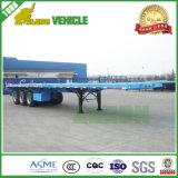 Flachbett-halb LKW-Schlussteil des China-Facotry angegebener Behälter-60t