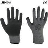 Crinkle латекса покрыл связанные 10g перчатки работы безопасности раковины пряжи