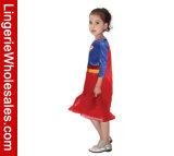 Costume супергероев втулки девушок Cosplay Supergirl партии Halloween малышей длинний