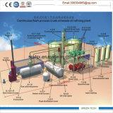 Planta de refinería del petróleo crudo 12ton por el día que consigue el gasoil