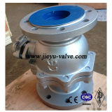Type de bille de flottement de robinet à tournant sphérique de Wcb de roue de traitement DIN (Q41F-PN40-DN200)
