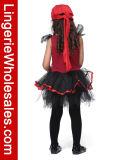 Costume della camicia del tutu di Cosplay del pirata di Halloween dei capretti per le ragazze