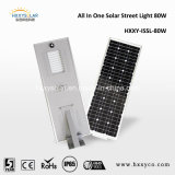 ハイウェイ、庭、公共領域のための1つのセンサーLEDの太陽街灯のセリウムRoHS IP65 5W-100Wすべて