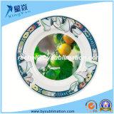 Sublimation-keramische Platte des Lotos-Blatt-Dekor-8 '' für Verkauf