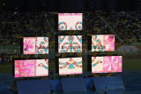 임대 단계 배경 점화를 위한 연약한 LED 커튼 스크린