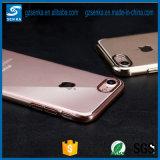 Nuevo electrochapar la caja barata transparente ultra fina de la cubierta del teléfono celular de TPU para Samsung S7