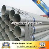 Q235 4 zwischenwand-Rohr des Zoll-Sch80 HDG rundes Stahl