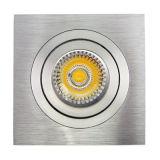 La lumière enfoncée par inclinaison de l'aluminium GU10 MR16 Sauqre DEL de tour vers le bas (LT2301)
