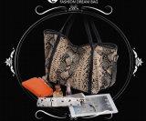 Женщин плеча самого последнего Cowhide печати змейки тавра неподдельной кожи европейского мешок одиночных