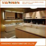 Weißer automatischer hoher Glanz-Lack-Küche-Luxuxschrank für Landhaus