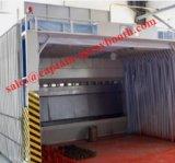 Sprühgerät für Holz arbeitet mit Wasser-Vorhang