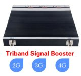 tri impulsionador da faixa 2g3g4g, repetidor móvel do sinal para o impulsionador Home de Lte 4G do repetidor da G/M do uso