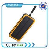 USB 2 ausgegeben mit Sonnenenergie-Bank der LED-Taschenlampen-10000mAh