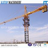 Guindaste de torre hidráulico do comprimento Tc5010 de patíbulo do tipo de Katop para a maquinaria de construção