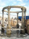 Gazebo dell'arenaria intagliato mano con la cupola (MGZ-003)