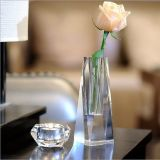 Florero alto de cristal de la nueva flor cristalina al por mayor del diseño para la decoración casera