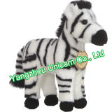 Brinquedo macio do luxuoso da zebra do animal enchido do algodão dos PP do CE
