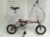Bicicleta de dobramento do frame da liga, única velocidade, bicicleta de dobramento do modelo novo,