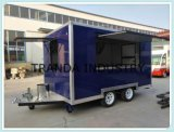 Mobile Food Car Drawbar avec auvent Caravan