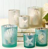 Mercury Silver / Frosted / Colorido / Vaso de vela transparente / Vela Copa