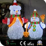 ショッピングモールの装飾のためのクリスマスのスノーマンのモチーフライト
