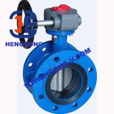 Válvula de borboleta pneumática da flange do ferro de molde de ANSI/DIN/JIS/bolacha de Wcb