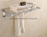 G-1127 Cuarto de baño de cromo latón toalla estante con función plegable