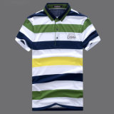 Coutume 100% mince de golf de chemise de polo de coton d'ajustement de mode propres modèle pour les hommes